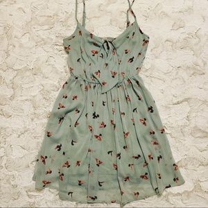 Anthropologie Willow & Clay Blue Dove Mini Dress